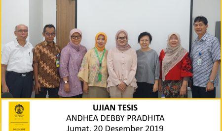 Thesis Examination Andhea Debby Pradhita (Medical Reproductive Science)