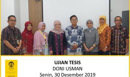 Thesis Examination Doni Usman (Microbiology)