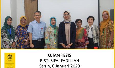 Thesis Examination Risti Sifa' Fadillah (Patobiology)